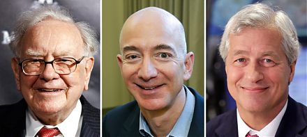 Amazon, Berkshire Hathaway, and JPMorgan Chase establish a new company to reduce U.S. employee health care costs.
