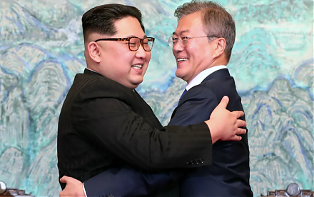 North Korean leader and president Kim Jong-Un seeks peaceful resolution and denuclearization on the Korean Peninsula.