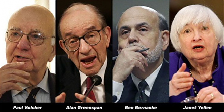 Volcker, Greenspan, Bernanke, and Yellen contribute to a Wall Street Journal op-ed on monetary policy independence.
