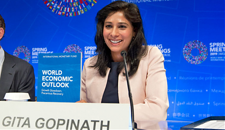 IMF chief economist Gita Gopinath indicates that competitive currency devaluation may be an ineffective solution to improving export prospects.