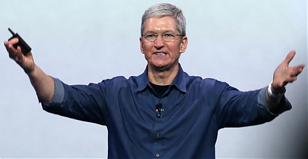 Apple becomes the first company to hit $1 trillion stock market valuation.