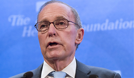 White House chief economic adviser Larry Kudlow points out that the recent U.S. dollar strength shows a clear sign of investor optimism.