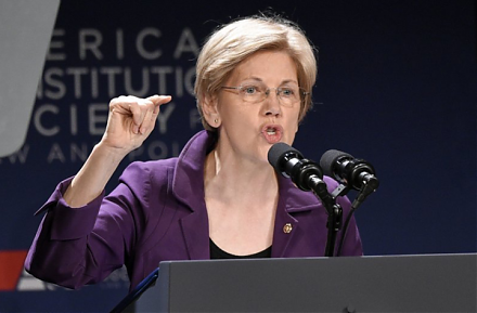 Senator Elizabeth Warren introduces her Accountable Capitalism Act that would require corporations to consider stakeholder interests.